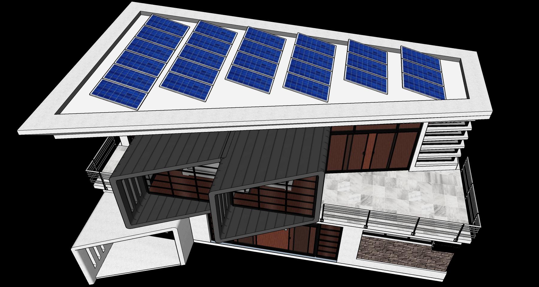 3D Model Sun Shadow Analysis on Rooftop