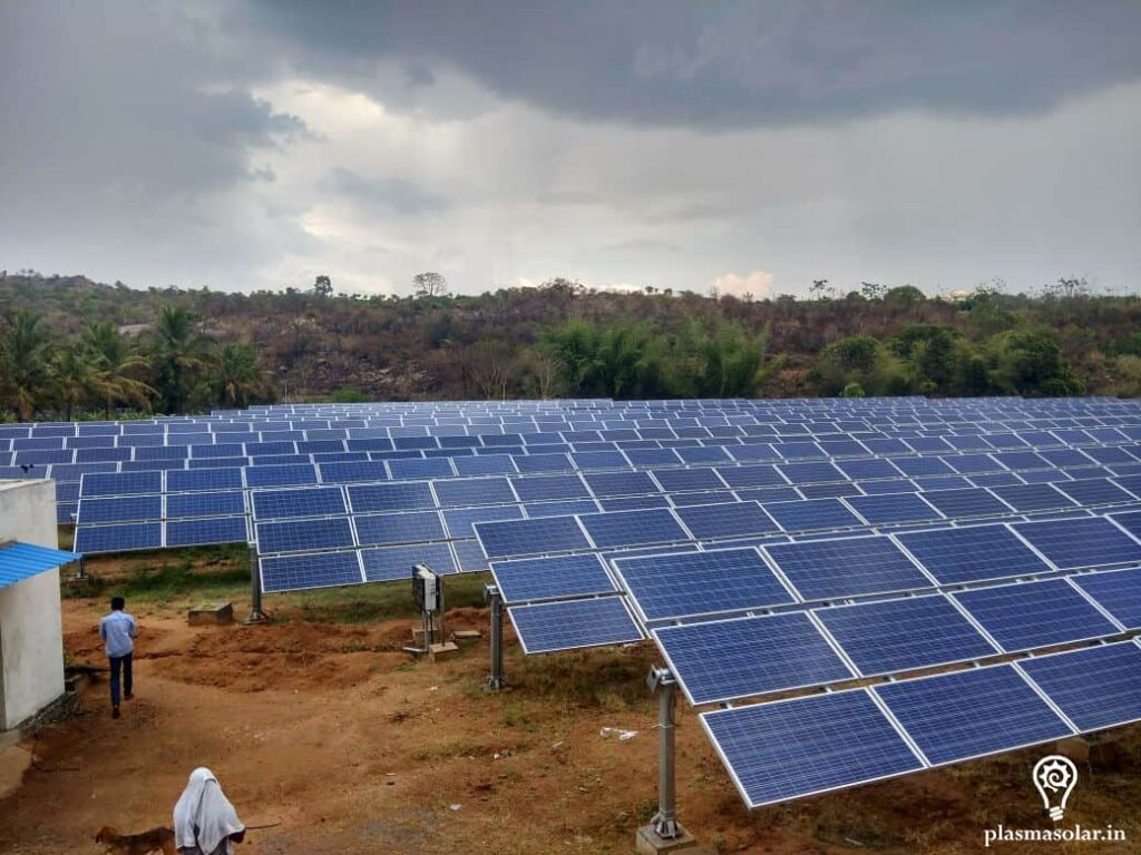 solar power plant for industry