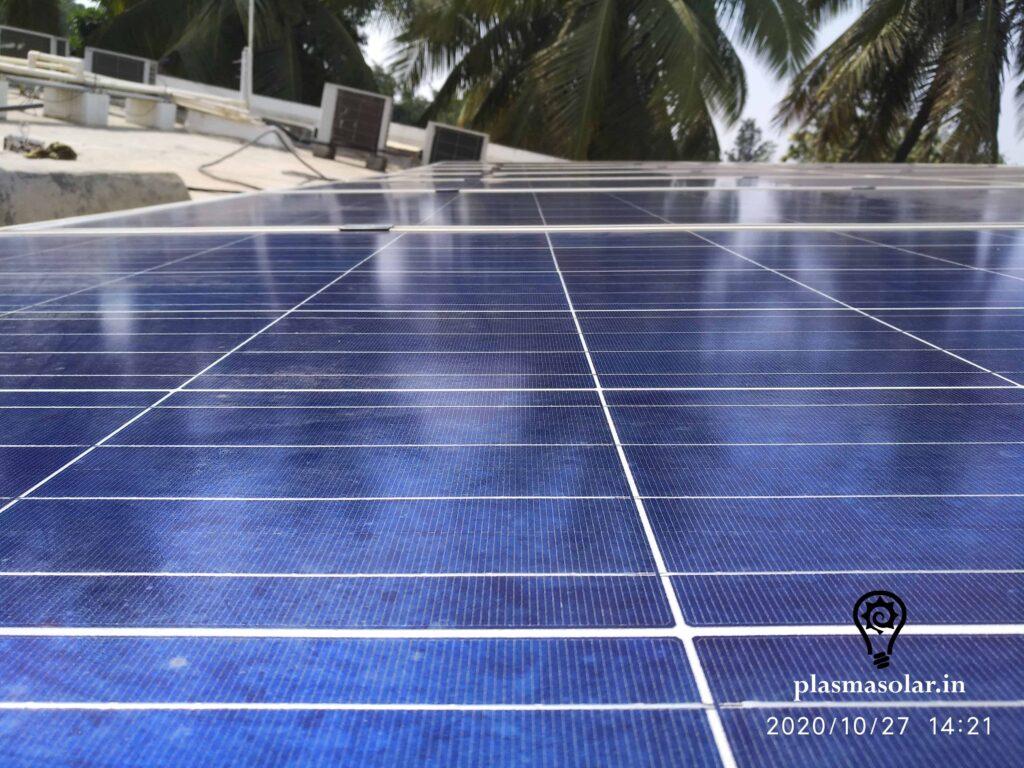 solar panel on terrace roof